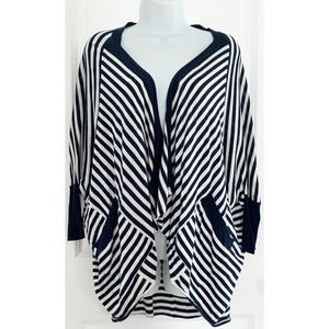 Splendid Navy White Stripe Dolman Sleeve Cardigan